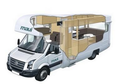 platinum 4 beach camper maui australien reisemobil adventure holidays. Black Bedroom Furniture Sets. Home Design Ideas